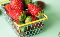 Kurv med jordbær